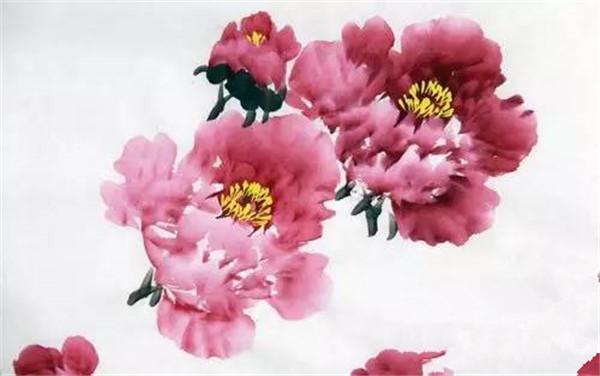水墨画(国画)牡丹花的绘画教程