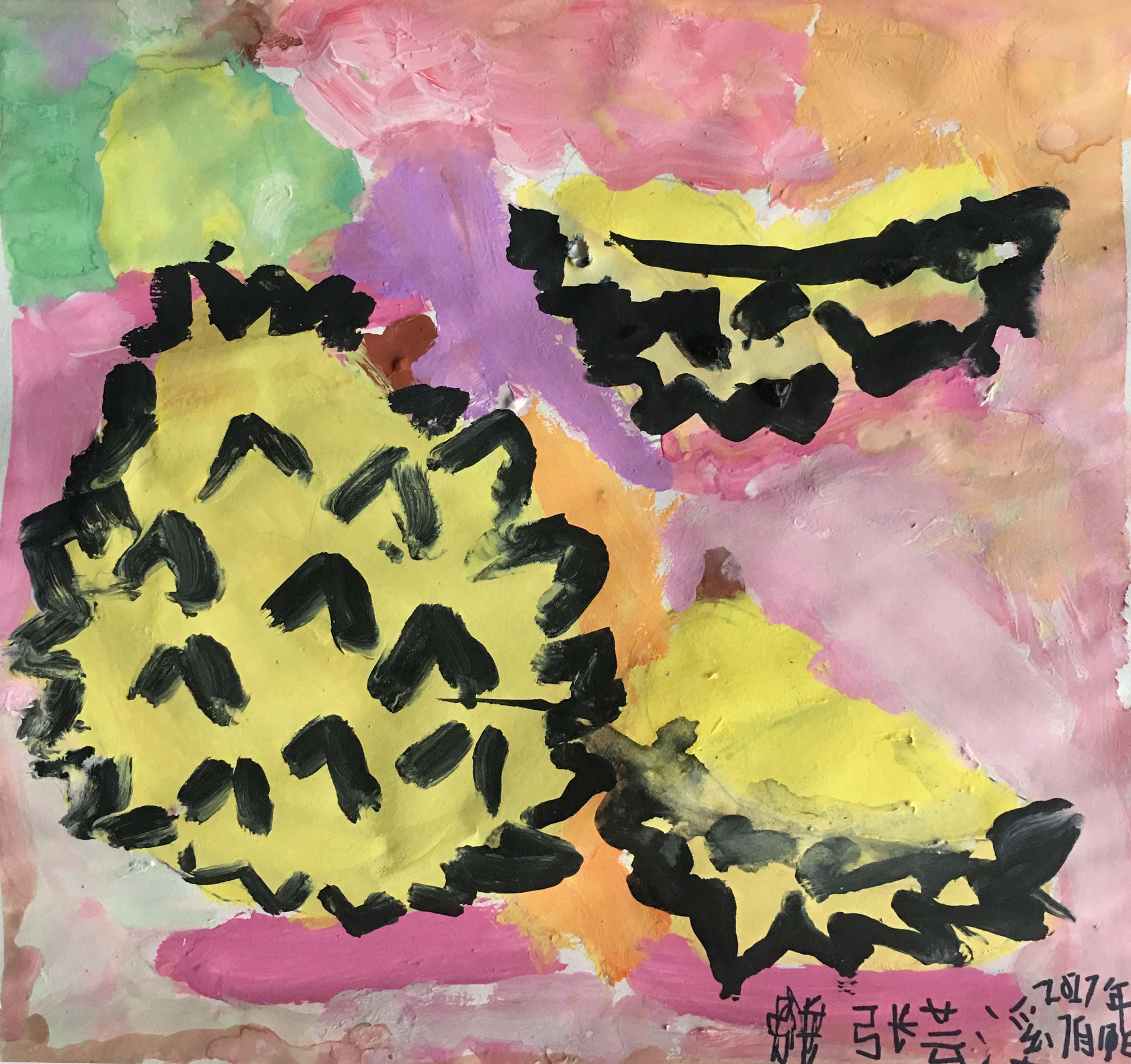 张芸溪-榴莲(水粉画)